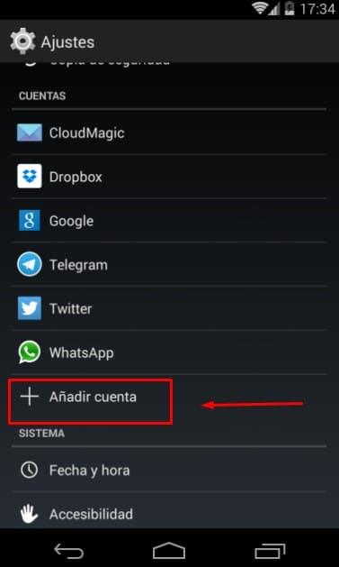 iniciar sesión en Gmail desde Android
