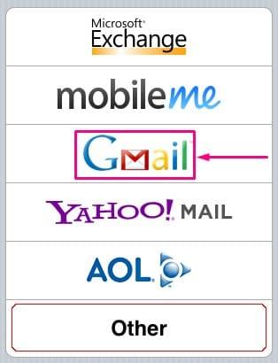 iniciar sesión en Gmail con iOS